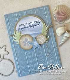 Thinking Stamping: Friends are Like Seashells for Create. Inspire 82 Fancy Fold Cards, Folded Cards, Nautical Cards, Birthday Wishes Cards, Friends Are Like, Making Greeting Cards, Stamping Up Cards, Stampin Up Catalog, Sea Theme