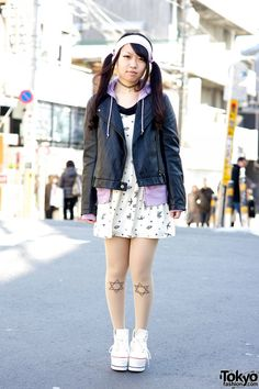 RT @TokyoFashion: Candy Stripper x AMOYAMO, twin tails, winged backpack & resale biker jacket in Harajuku http://flip.it/gh5AZ