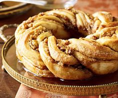 A work of art, this maple syrup-laced bread will be the star of Christmas brunch menus.
