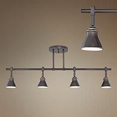 Quoizel Clifford Palladian Bronze 4-Light Ceiling Fixture