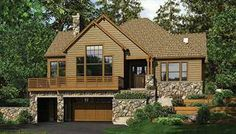Two story plans with a main floor garage