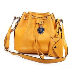 Korean Style Bucket String Bag Women Shoulder Crossbody Bag Handbag - US$17.53