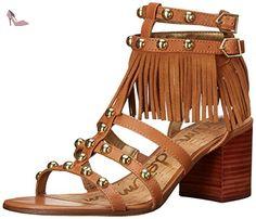 Sandale Sam Edelman Shaelynn en daim marron camel, Brun, 40 - Chaussures sam edelman (*Partner-Link)