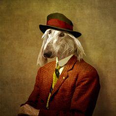 Anthropomorphic dog by Martine Roch