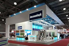Exhibition stand for Deceuninck company. Design and construction Expoforce company