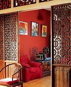Chinese Home Decor - Red, Green and Yellow   Home Interior Design