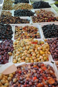 Too many to choose from! #market #rainbow #olives