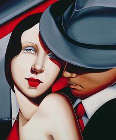 Adam and Eve by Tamara de Lempicka... #love #trust #truth www.morseandnobel.com