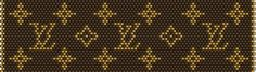 Louis Vuitton via seed beads Crochet Beaded Bracelets, Bead Crochet Rope, Bead Loom Bracelets, Beaded Bracelet Patterns, Peyote Stitch Patterns, Loom Patterns, Beading Patterns, Diy Crochet Projects, Diy Friendship Bracelets Patterns