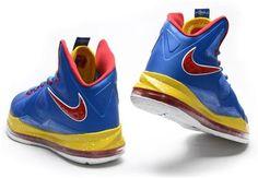 watch 38a2e 1db45 Lebron 10 Lebron James Shoes 2013 Royal Blue Varsity Red Yellow 541100 001  Nike Shoes Online