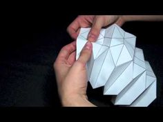 How to make paper art: the Reverse folded paper - YouTube