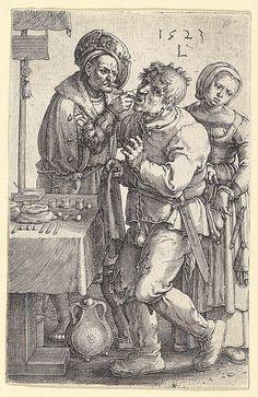 """The Dentist"". Lucas van Leyden (Netherlandish1494–1533) Date: 1523"