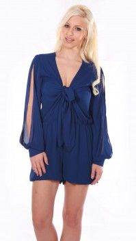 Start a Wish Playsuit   Blue » Hex Effex Clothing