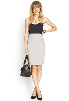 Feel like Gwen would wear this skirt   Classic Pencil Skirt | FOREVER21 #F21Contemporary