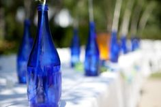 Cobalt Blue And Pea Green Wedding Decorations, 34% off   Recycled Bride