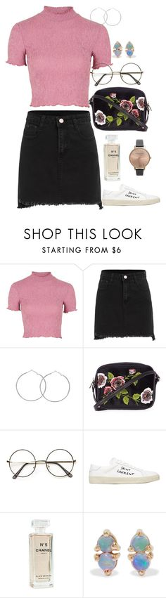 """June 29th"" by bubble-tea-dan ❤ liked on Polyvore featuring Topshop, Yves Saint Laurent, Chanel, WWAKE and Olivia Burton"