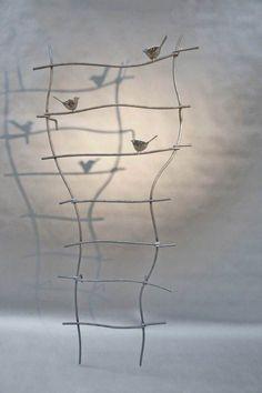 Und Noch Eine Rankgitter Mit Gelaserten Stahlvogeln