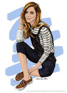 NTHLEE #art #fashion #inspiration #love #illustration #outfit #cap #beautiful #model #theblondesalad #chiaraferragni #digitalart #digital #graphicdesign #madewithwacom #wacom