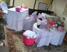 Simple SPA Party decorations idea