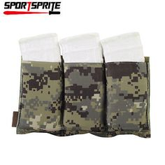 TACTICAL Molle Triple Stacker Open-Top M4 Maga Magazine Pouch Holster AOR2
