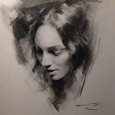 charcoals drawing - Casey Baugh Fine Art