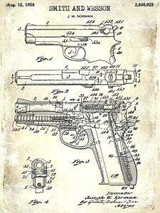 1894 foehl revolver patent artwork blueprint nikki marie smithg 1958 smith and wesson firearm patent drawing art print by jon neidert patentartgifts patentdrawing malvernweather Choice Image