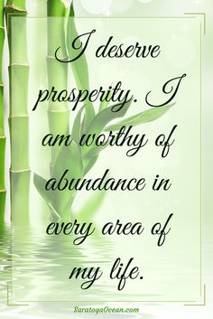 The first step towards achieving prosperity is believing that you are worthy of receiving it. If you struggle with negative thoughts about your worth and prosperity, write or say this affirmation every day, as often as you can. If you catch yourself dimin Prosperity Affirmations, Daily Positive Affirmations, Money Affirmations, Positive Mind, Positive Thoughts, Think And Grow Rich, Affirmation Quotes, Mind Body Soul, Negative Thoughts