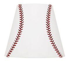 DIY baseball lamp shade | Stuff For My Sister Sherry | Pinterest ...