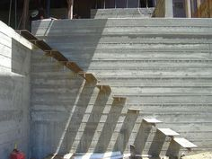 board-formed concrete wall