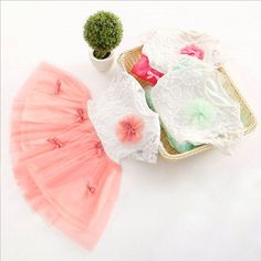 Girls Baby Kids Princess Summer Tulle Skirt Lace Flower Tutu Layer Party Dress #Unbranded #FormalPartyPageantCasual