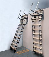 Rustic basement stairs stairways New Ideas Garage Stairs, Loft Stairs, Basement Stairs, House Stairs, Garage Attic, Small Garage, Basement Ideas, Rustic Stairs, Rustic Basement