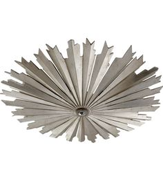 Visual Comfort CHC4402BSL E. F. Chapman Claymore LED 28 inch Burnished Silver Leaf Flush Mount Ceiling Light photo.  $1049