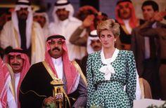 November 17, 1986: Princess Diana at a Horse Races at the Equestrian Club in Riyadh, Saudi Arabia.