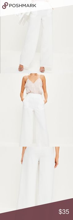White wide leg trousers White wide leg trousers Missguided Pants Trousers
