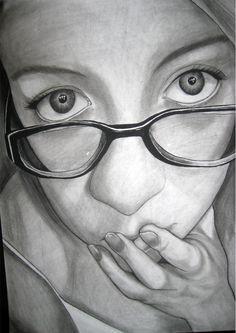 Drawing BW- self portrait by setsuna22 on DeviantArt