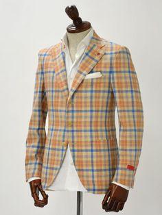 【楽天市場】ISAIA【イザイア】ジャケット 8055C 090 007173 SAILOR 8C wool linen silk cashmere ORANGE CHECK(ウールリネンシルクカシミヤ・オレンジチェック):CINQUE CLASSICO