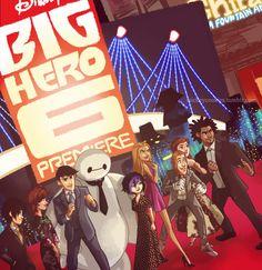 This is amazing!  Big Hero 6 honey lemon Hiro Hamada bh6 baymax gogo tomago wasabi no ginger fredzilla tadashi hamada cass hamada abigail callaghan