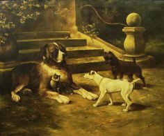 The Protector, by Evelyn Tinkney Marsh, 18x22 Oil on Canvas