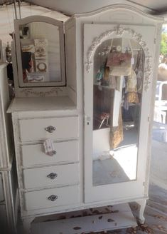 Shabby Chifferobe Armoire Wardrobe Painted by PinkPaperRose