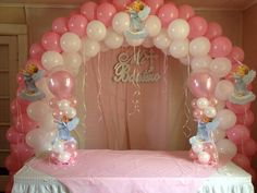 Balloon arch-girl
