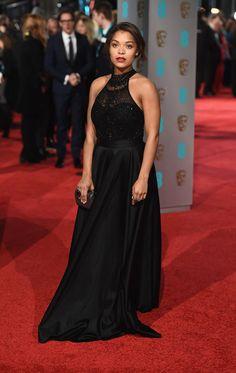 Antonia Thomas in Persy Couture 2016 Antonia Thomas, Sarah Jane Crawford, The Baftas, British Academy Film Awards, Celebs, Celebrities, Pretty Dresses, Red Carpet, Beautiful People
