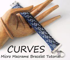 Micro Macrame Curves Bracelet