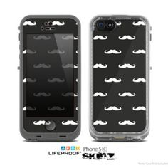 The Mustache Galore Skin for the Apple iPhone 5c LifeProof Case