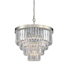 Savoy House 1-9800-6 Tierney 6 Light Chandelier Polished Nickel Indoor Lighting Chandeliers