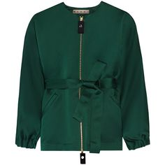 Marni Oversized silk and cotton-blend jacket (5 278 AUD) ❤ liked on Polyvore featuring green and marni