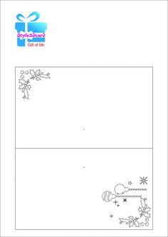 Seasonal greeting Cards For Merry Christmas 2017/kirigami pattern 2