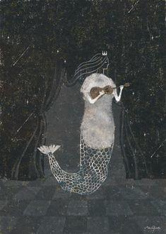 © Akira Kusaka Mermaid Images, Mermaid Art, Spirited Art, Fairytale Art, Driftwood Art, Children's Book Illustration, Japanese Art, Akira, Cool Art