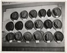 Weegee  Untitled [Hats in a pool room, Mulberry Street, New York]  ca. 1943