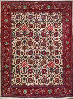 "Tabriz Persian Rug, Buy Handmade Tabriz Persian Rug 9' 7"" x 12' 11"", Authentic Persian Rug"