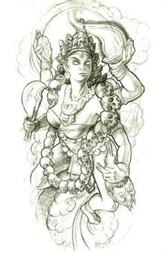 goddess tattoo designs | New School Tattoo Sketches by Jee Sayalero « Illustration « Mayhem ...